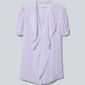 Aritzia Babaton Tinsley Silk Purple Blouse